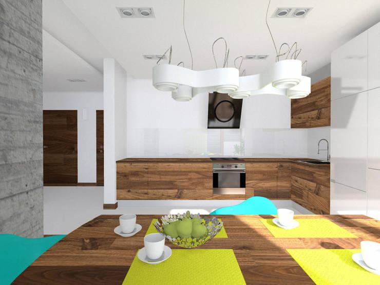 Projekt wnętrza domu 200 m2 : styl , w kategorii Jadalnia zaprojektowany przez Lidia Sarad