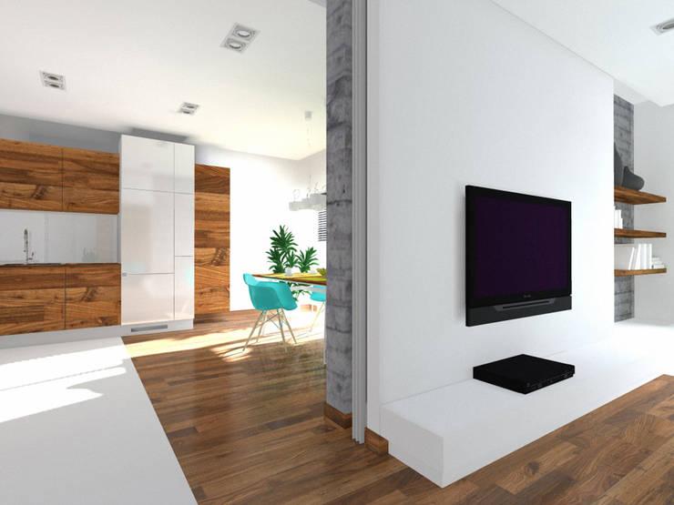 Projekt wnętrza domu 200 m2 : styl , w kategorii Kuchnia zaprojektowany przez Lidia Sarad