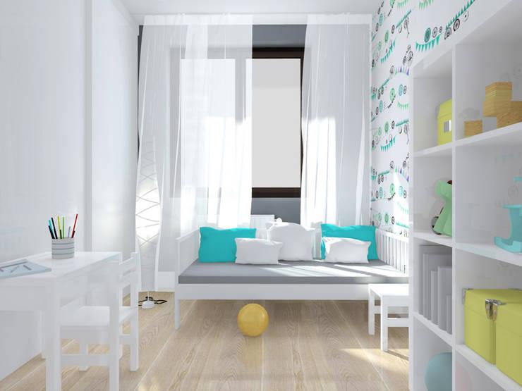 Projekt wnętrza mieszkania 70 m2 w Krakowie: styl , w kategorii Pokój dziecięcy zaprojektowany przez Lidia Sarad