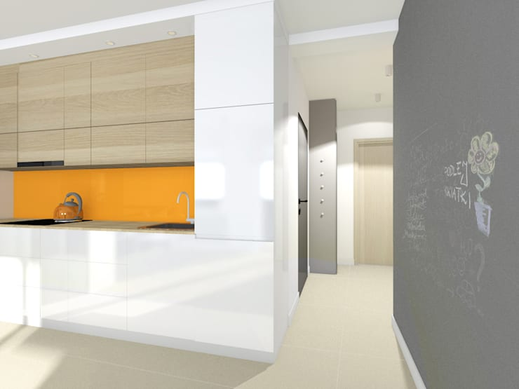 Projekt wnętrza mieszkania 30 m2 w Krakowie: styl , w kategorii Korytarz, przedpokój zaprojektowany przez Lidia Sarad