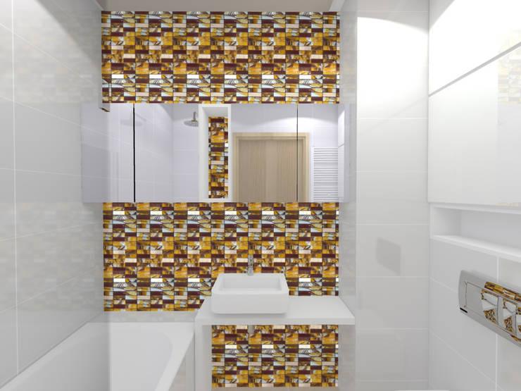 Projekt wnętrza mieszkania 30 m2 w Krakowie: styl , w kategorii Łazienka zaprojektowany przez Lidia Sarad