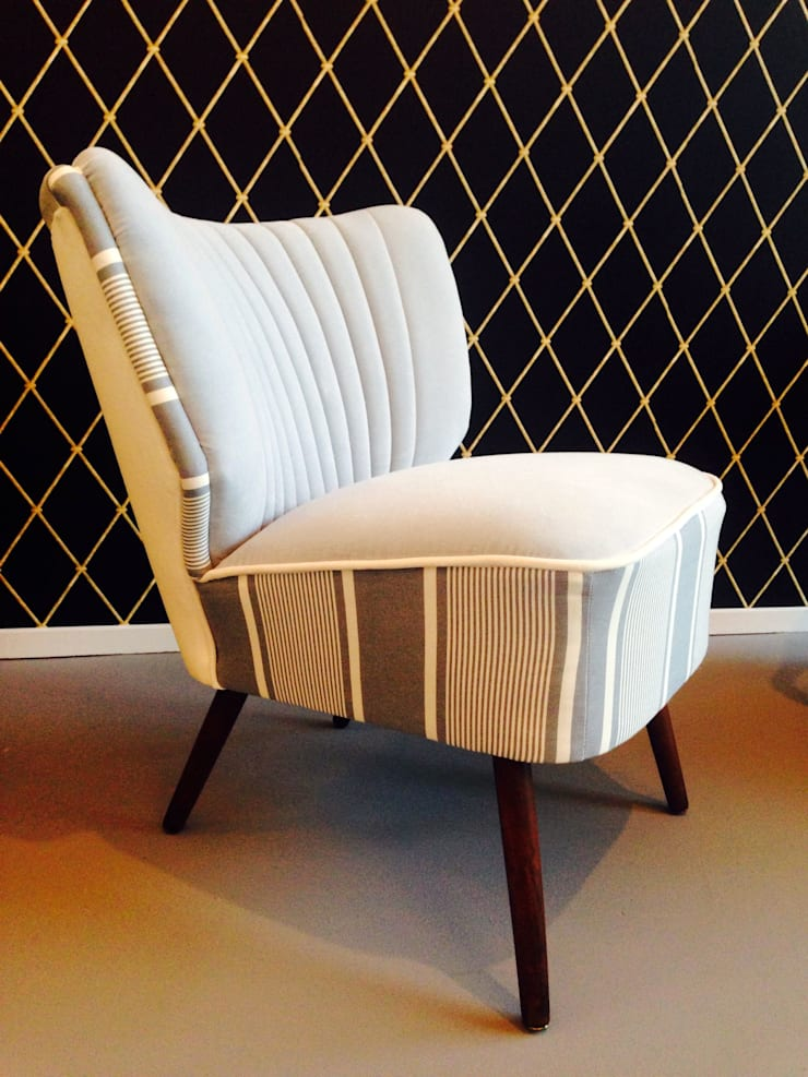 Fotel Klubowy: styl , w kategorii Salon zaprojektowany przez Juicy Colors