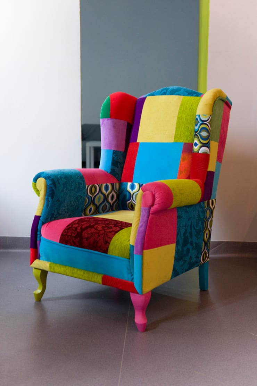 Uszak Patchwork : styl , w kategorii Salon zaprojektowany przez Juicy Colors