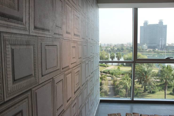 4 Duvar İthal Duvar Kağıtları & Parke – Duvar Kağıdı Uygulamaları: eklektik tarz tarz Çalışma Odası