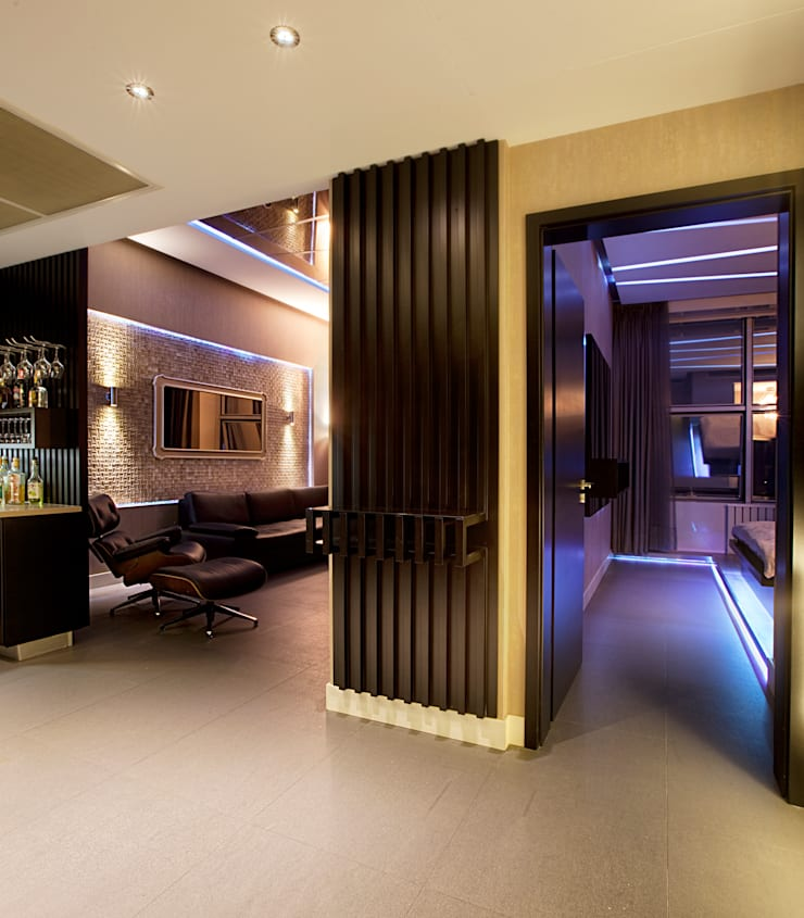 Modern Corridor, Hallway and Staircase by Udesign Architecture Modern
