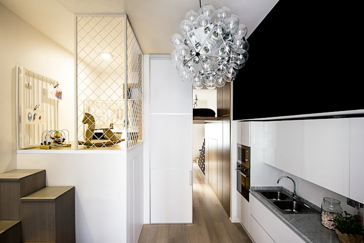 Casa 40: Cucina in stile  di Studio Tenca & Associati