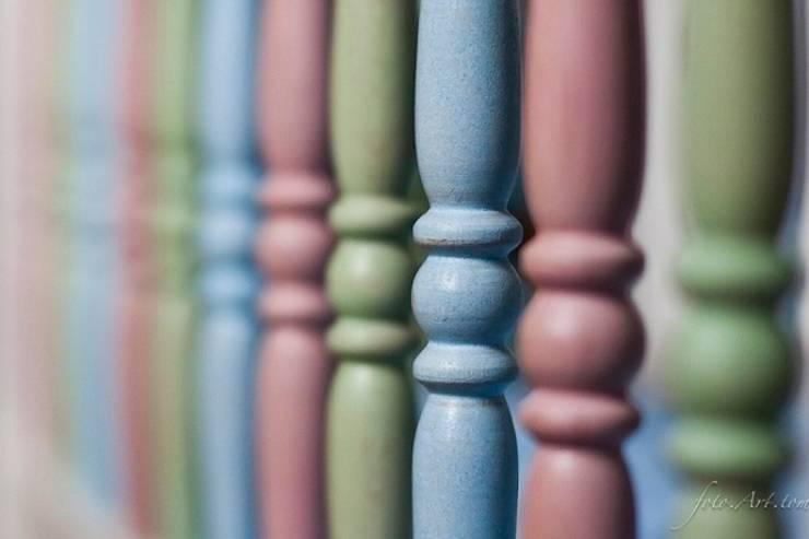 kolorowe tralki : styl , w kategorii Pokój dziecięcy zaprojektowany przez lululaj,