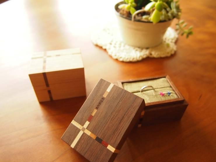 Ring-Case: 家具工房旅する木が手掛けた家庭用品です。,