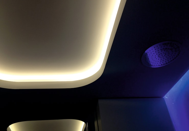Apartament Waterlane Gdańsk: styl , w kategorii Ściany zaprojektowany przez Ostańska design,