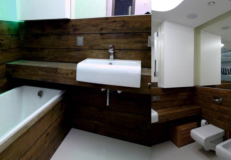 Apartament Waterlane Gdańsk: styl , w kategorii Łazienka zaprojektowany przez Ostańska design,