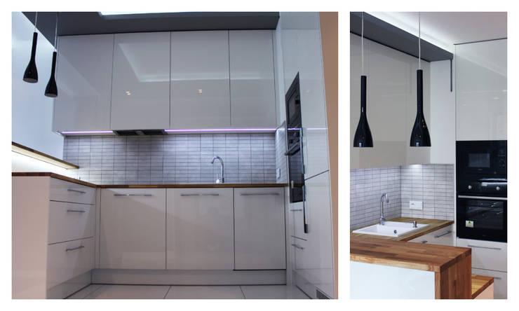 Kuchnia na wymiar do małego mieszkania: styl , w kategorii Kuchnia zaprojektowany przez Szafawawa