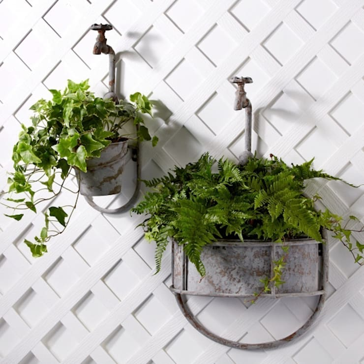 Hanging Vintage Garden Tap Planter:  Garden  by ELLA JAMES