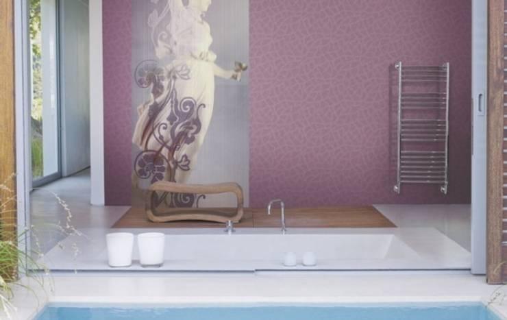 4 Duvar İthal Duvar Kağıtları & Parke – Uygulamalar:  tarz Banyo