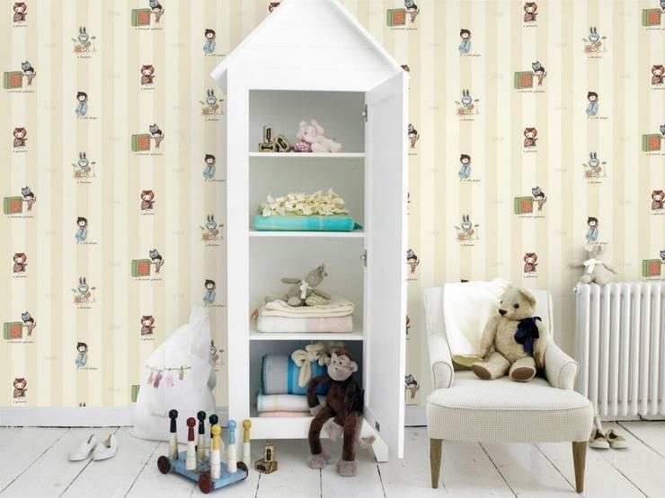 Chambre d'enfant de style de style Moderne par 4 Duvar İthal Duvar Kağıtları & Parke