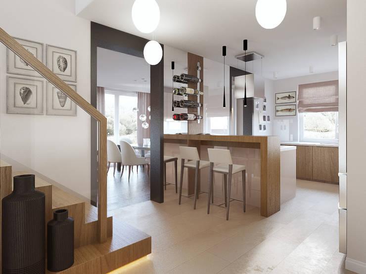 Dom w Brzegu Dolnym: styl , w kategorii Kuchnia zaprojektowany przez Finchstudio
