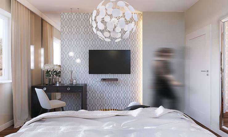 Dom w Brzegu Dolnym: styl , w kategorii Sypialnia zaprojektowany przez Finchstudio