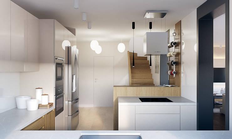 Dom w Brzegu Dolnym: styl , w kategorii Korytarz, przedpokój zaprojektowany przez Finchstudio