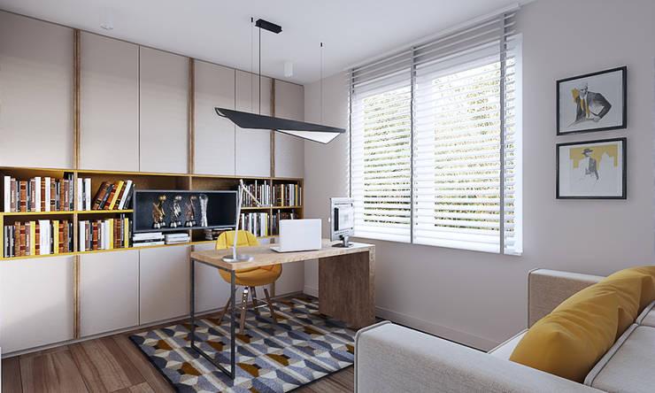 Dom w Brzegu Dolnym: styl , w kategorii Domowe biuro i gabinet zaprojektowany przez Finchstudio