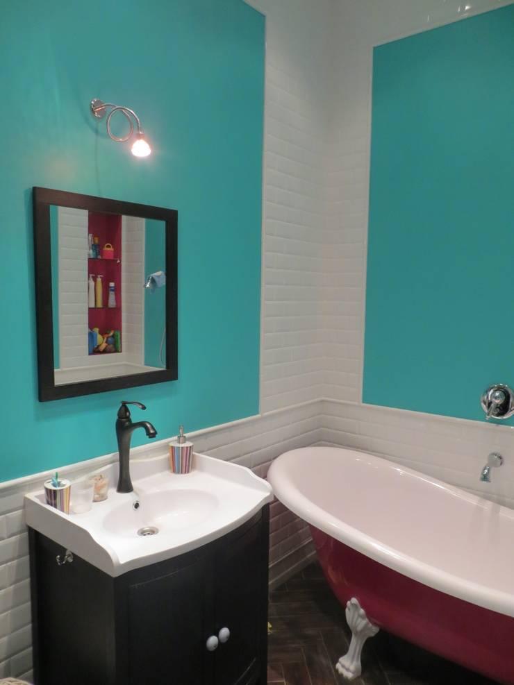 Нескучный серый: Ванные комнаты в . Автор – PichuginaDesign