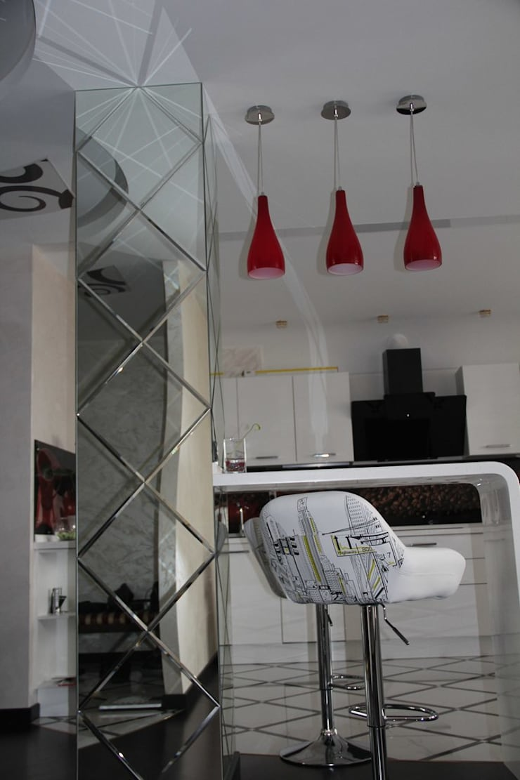 """Дизайн квартиры в современном стиле в ЖК """"Европейский"""" (Краснодар): Кухни в . Автор – Студия интерьерного дизайна happy.design"""