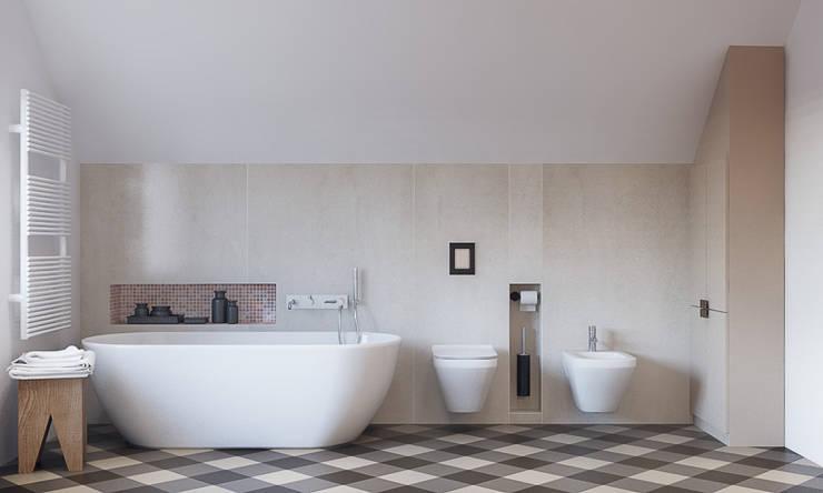 Dom w Brzegu Dolnym: styl , w kategorii Łazienka zaprojektowany przez Finchstudio