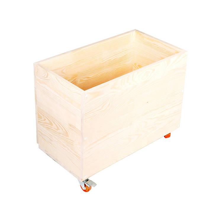 Drewniana skrzynia na zabawki <q>Lekko śpiący lis</q>: styl , w kategorii Pokój dziecięcy zaprojektowany przez NOBOBOBO
