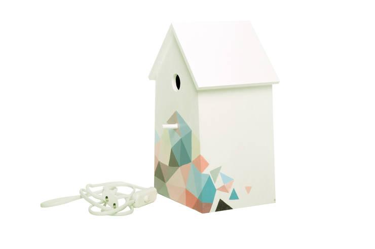 """Lampka nocna domek dla ptaków """"Sen pszczoły""""  bok 2: styl , w kategorii Pokój dziecięcy zaprojektowany przez NOBOBOBO"""