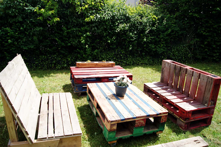 mobilier de jardin en palettes recycl es par. Black Bedroom Furniture Sets. Home Design Ideas