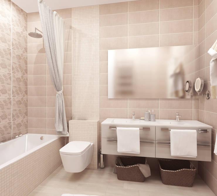 квартира на ул. Одесская: Ванные комнаты в . Автор – ООО 'Студио-ТА'