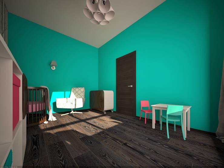 Фиолетовые нюансы: Детские комнаты в . Автор – PichuginaDesign