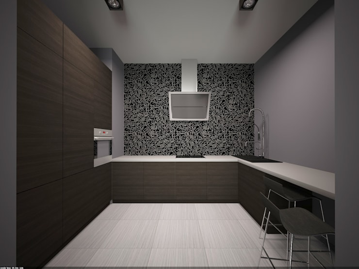 Фиолетовые нюансы: Кухни в . Автор – PichuginaDesign