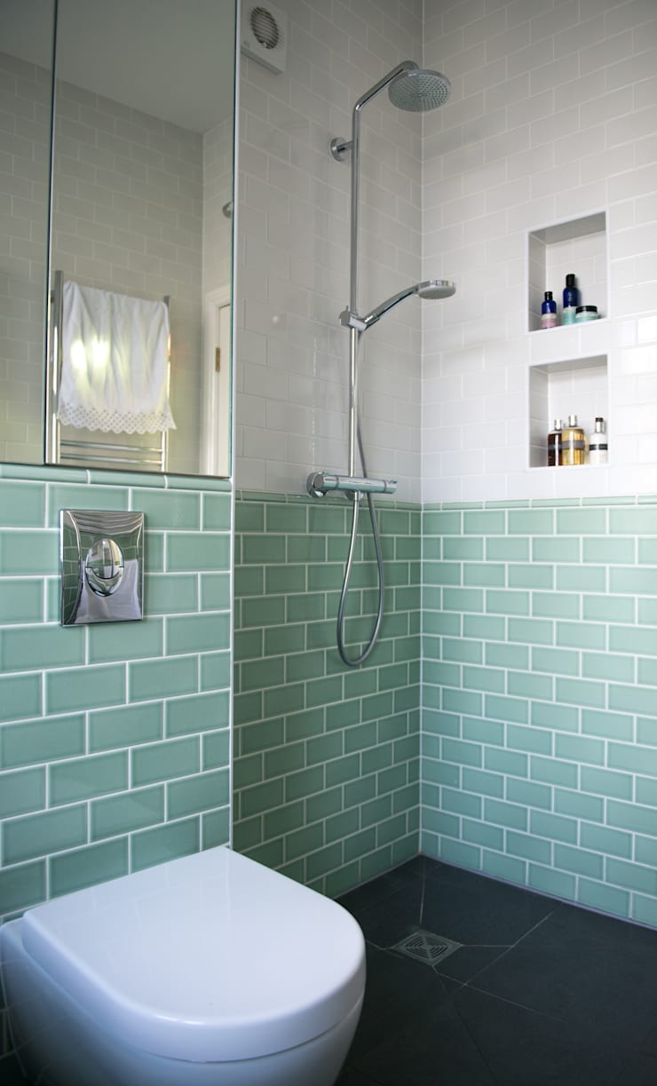 The Wet Room Shower :  Bathroom by Blue Cottini