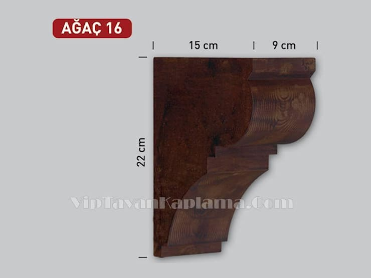 Vip Tavan Kaplama – Model 16 Ahşap Görünümlü Eps Tonoz:  tarz , Klasik