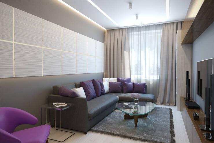 2-х комнатная квартира в Москве: Гостиная в . Автор – Rustem Urazmetov