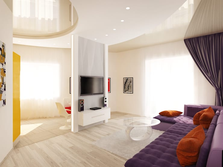 2-х комнатная квартира в Подмосковье : Гостиная в . Автор – Rustem Urazmetov