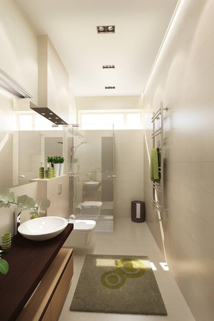 Дизайн коттеджа в Подмосковье : Ванные комнаты в . Автор – Rustem Urazmetov