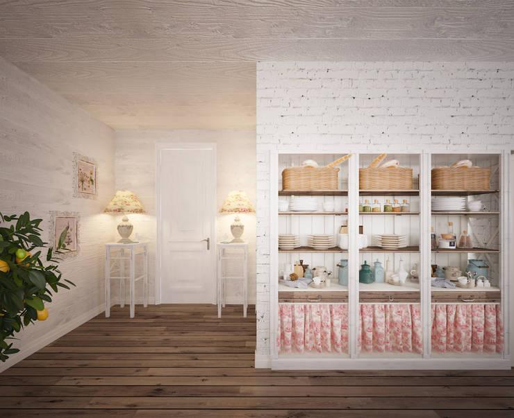 Уютный дом в стиле прованс: Столовые комнаты в . Автор – Дизайн-бюро Анны Шаркуновой 'East-West'