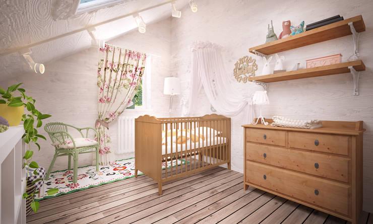 Уютный дом в стиле прованс: Детские комнаты в . Автор – Дизайн-бюро Анны Шаркуновой 'East-West'