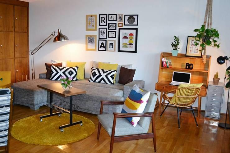 Salas de estar modernas por Raummission