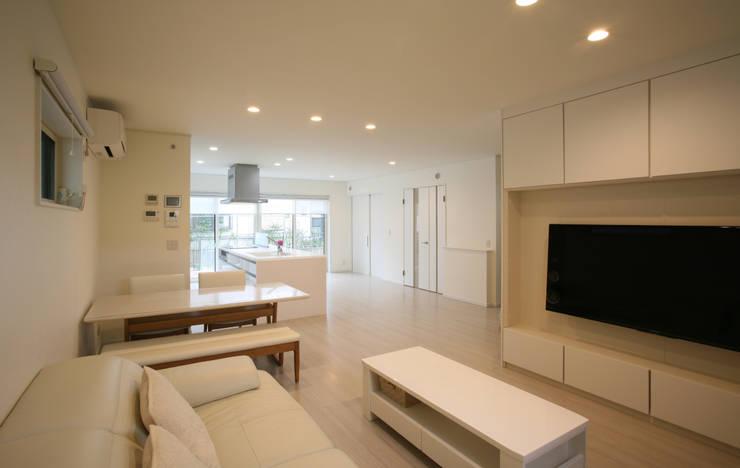 リビング (キッチン ダイニング): 吉田設計+アトリエアジュールが手掛けたリビングです。,