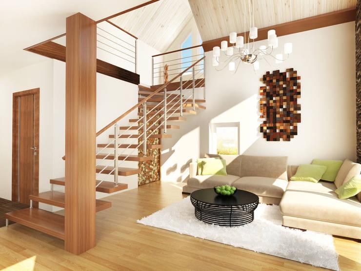 Дизайн загородного дома в Норвегии: Гостиная в . Автор – Rustem Urazmetov