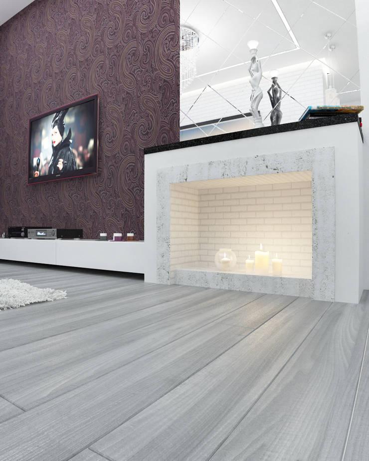 2-х комнатная квартира в Москве : Гостиная в . Автор – Rustem Urazmetov, Скандинавский