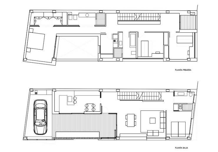 vivienda_unifamiliar_puçol_planos_plantas_1:  de estilo  de aguilar avila studio