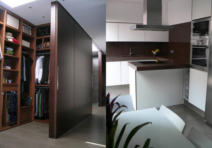 vivienda_unifamiliar_puçol_foto_interior_1: Cocina de estilo  de aguilar avila studio