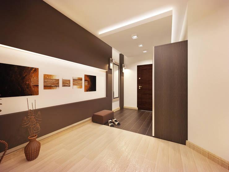 2-х комнатная квартира в Москве. Коридор: Коридор и прихожая в . Автор – Rustem Urazmetov
