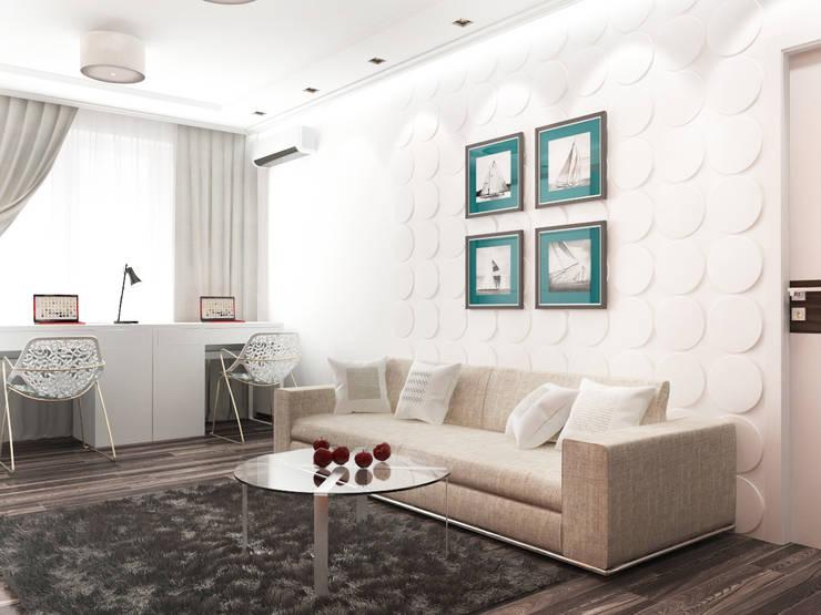 Дизайн гостиной с камином: Гостиная в . Автор – Rustem Urazmetov,