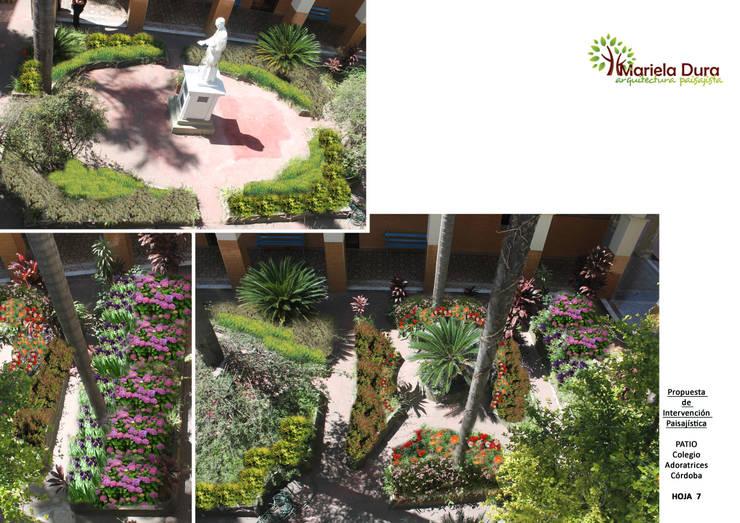 HOJA 7: Jardines de estilo clásico por MARIELA DURA ARQUITECTURA PAISAJISTA