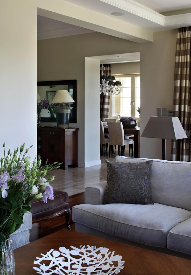 Living room by ASA Autorskie Studio Architektury