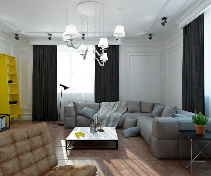 Salon de style  par Студия Антона Сухарева 'SUKHAREVDESIGN',