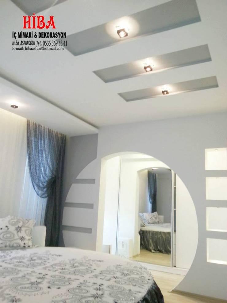 Hiba iç mimari ve dekorasyon – Ali Dablan Evi:  tarz Yatak Odası